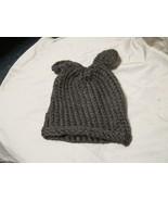 Handmade Knitted Brown Bear Infant Winter Hat Cap CUTE - $9.90
