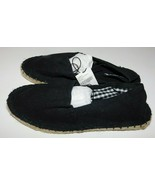 Soda Canvas Espadrille Black Shoes Size 6 Brand New - $25.00