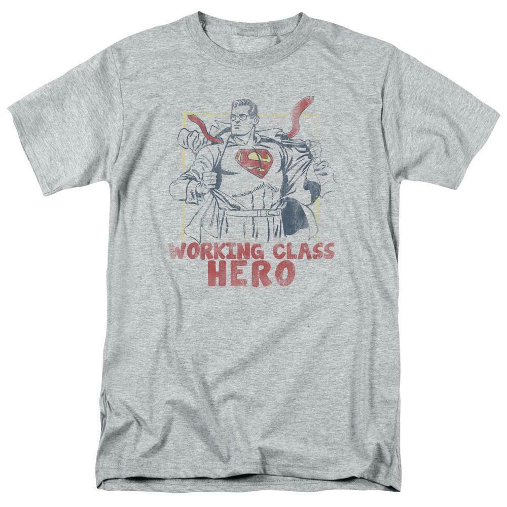 Superman T-shirt Working class hero retro DC comics distressed tee SM1951