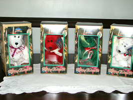 Vintage Limited Treasures Holiday Edition 98 Cute Bears Collectibles Lot of 4 - $19.95