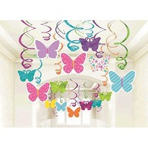 Amscan 670405 Spring Butterfly Party Hanging Swirl Decorations 30pkg (Pa... - $18.00