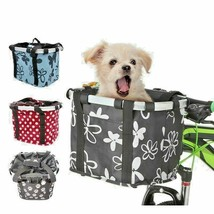Foldable Bike Fabric Bag Bicycle Dog Carrier Basket Cat Travel For Small... - $48.44