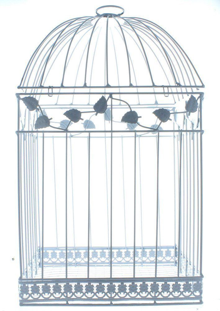 White Bird Cage Squirrel Parrot Wedding Gift Card Holder Gala Dining Invitation