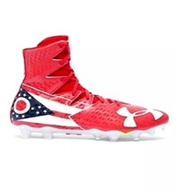 Under Armour Highlight MC LE Football Cleat 1275479-611 Red/White OHIO SZ 9 AA79 - $38.69