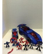 2 Spider-Man Cars DC Comics Figures Captain America - $14.01