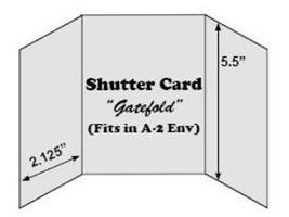 Shutter Cards-Gatefold-Blank Pre-Scored with Envelopes for Card Making,10 White