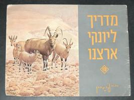 Walter Ferguson Guide Mammals Of Israel Children Book Vintage Hebrew Israel 1972 image 1