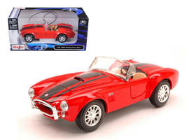 1965 Shelby Cobra 427 Red 1/24 Diecast Model Car by Maisto - $50.99