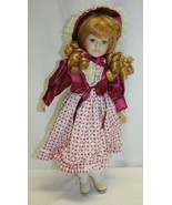 "16"" Porcelain Doll Strawberry Blond Hair Blue Eyes Unbranded - $19.79"
