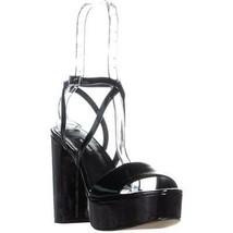 Nine West Markando Block Heel Platform Strappy Sandals, Black, 6.5 US - $32.63