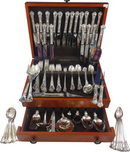 Chantilly by Gorham Sterling Silver Dinner Flatware Set 18 Service 165 Pcs Huge! - $6,835.73