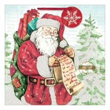 Santa Village Christmas Gift Bag with Tags 12 x 12 inches - $2.27
