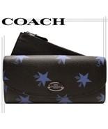 COACH 53568 Leather Star Canyon Pop Slim Envelope Wallet Blue Multi 2Pc NEW - $112.05