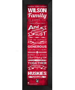 "Personalized Northeastern University ""Huskies"" 24x8 Family Cheer Framed ... - $39.95"