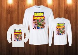Toy Story Birthday Long Sleeve Shirt Personalized Custom white sweatshirt - $18.95+