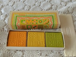 Avon Patchwork 3 Soaps 3oz NOS Vintage  - $9.69