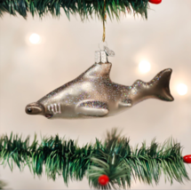 Old World Christmas Hammerhead Shark Glass Coastal Xmas Ornament 12426 - $12.88