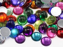 KraftGenius Allstarco 5mm Assorted Colors Flat Back Acrylic Round Cabochons Plas - $8.90