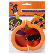 Wilton Halloween Comfort Grip Cookie Cutter Set Pumpkin & Mini Bat Orange - $3.95