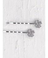 Lilla Rose Bobbi Pin Pair (new) CLOVER (BP-2839) Silver - $13.76