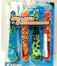 COOP DIVE STIX & STREAMERS ~ Contains 2 Dive Sticks & 2 Streamers sealed - $4.98