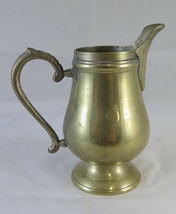 Small Jug For Milk Creamer IN Metal Vintage First Twentieth Century 67oz34 - $22.58