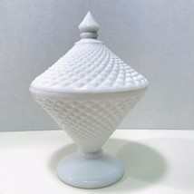 Westmoreland Vintage 1950's White Milk Glass English Hobnail Covered Can... - $39.95