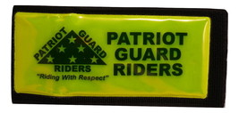 Patriot Guard Rider Reflective Armband with hidden pocket Velcro Size Large - $28.00