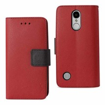 REIKO LG ARISTO/ FORTUNE/ PHOENIX 3 PLUS 3-IN-1 WALLET CASE IN RED - $9.66
