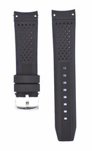 22mm Black Silicone Rubber Curved End Dive Watch Band Strap - $19.99