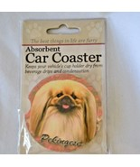 Pekingese Absorbent Car Coaster Stoneware E&S Pets Dog Auto NEW - $10.88