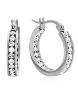 Swarovski Elements Hoop Earrings-SILVER - $32.48