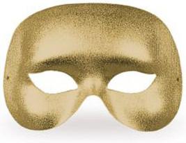 Gold Metallic Cocktail Mask Halloween Masquerade Fancy Dress Costume Accessory - $6.69