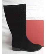 Van Eli Size 10.5 M Reena Black Suede Knee High Boots New Womens Shoes - $127.71