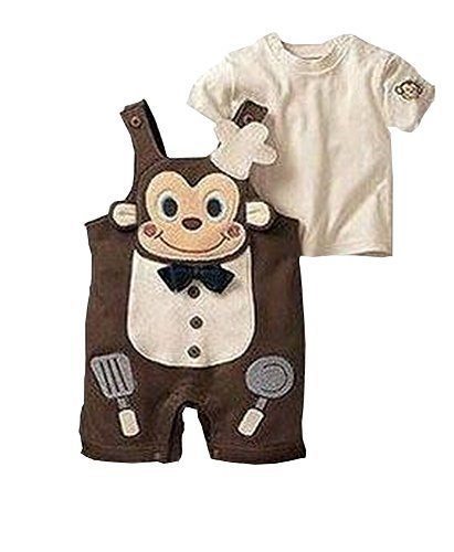 Cute Baby Overall Beautiful Baby Overall A Suit of Skirt And Overall Brown