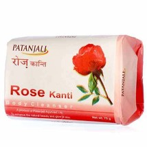 Patanjali Rose Kanti Body Soap Cleanser For Beautiful Skin 75g, 150 gm F... - $4.98+