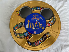 The Wonderful World Of Disney Trivia Game 1997 Mattel Board Game in Gold Tin - $19.99