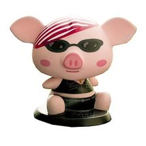 PANDA SUPERSTORE [Rocker Piggy] Bobbleheads Car Ornaments/Car Decoration,4.7x3.9