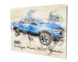 2020 Dodge Ram 1500 Pick Up Truck Water Color Design 16x20 Aluminum Wall Art - $59.35