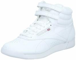 Reebok Women's Freestyle Hi Walking Shoe Size 5M White/Silver style 70 - $66.83