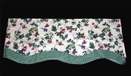 Waverly Pleasant Valley 72x18 Checkered Berries DBL Layer Scalloped Vala... - $29.99