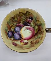 Aynsley England Tea Cup And Saucer Orchard Fruits Signed D. Jones Orange image 12