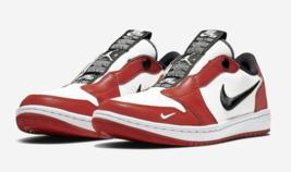 Nike Women's Air Jordan I 1 Low Slip On NRG Red White Black Chicago BQ8462-601 - $128.67