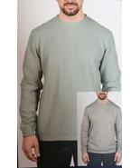 Island Sands Long Sleeve Revrsible Crewneck Sweater, Green/Grey, M - $25.73