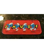 Vintage Smurf Tin Bicycle License Plate 1983 Mint! - $12.91