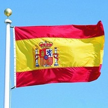 G128 - Spain Flag 3x5ft Printed Quality Polyester With Brass Grommets Do... - $14.61