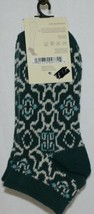 Simply Noelle Dark Green Teal White Ankle Socks One Size Fits Most image 2