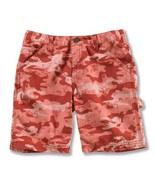 Carhartt Girls Washed Camo Duck Shorts, CH8213 Pink Camo - $18.00