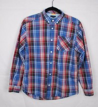 Tommy Hilfiger youth kids shirt plaid long sleeve cotton size L/G 16/18 - $13.99