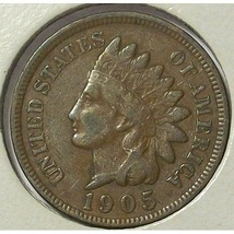 1905 Indian Head Cent F12 Full Liberty #0549 - $3.89